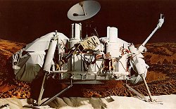 A model of the Viking 1 craft that landed on Mars in 1976